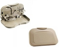 Autosun Foldable Car Dining Meal Drink Tray Set Of 2 Tata Indica Vista Beige