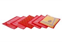 Kuber Industries Single Packing Bandhani Saree Cover Set Of 6 Pcs Red