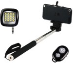 Smiledrive Selfie Stick With Night Light And Wireless Clicker