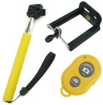 Acromax Selfie Stick with Bluetooth Remote for Blackberry 9530