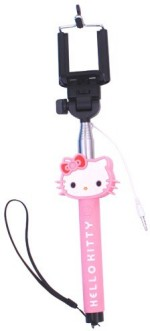 Digi India Hello Pink Kitty Selfie Stick With Aux Cable