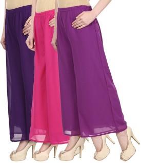Christy World Regular Fit Women's Purple, Pink, Purple Trousers