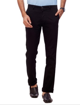 Live In Regular Fit, Slim Fit Men's Black Trousers