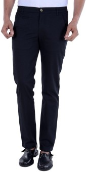 S9 MEN Slim Fit Men's Black Trousers