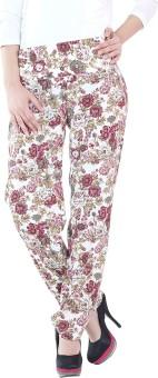 Fashion205 Printed Crepe Regular Fit Women's Trousers - TROE3VVZXKBYK8EC