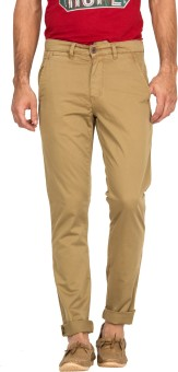 Blue Saint Slim Fit Men's Beige Trousers