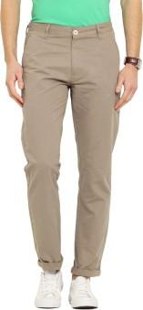 Ennoble Slim Fit Men's Beige Trousers - TROEGZMWVCREEYW7