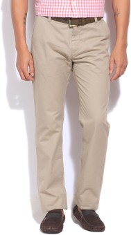 U.S.Polo.Assn Slim Fit Men's Beige Trousers