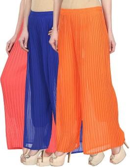 Skyline Trading Regular Fit Women's Pink, Blue, Orange Trousers