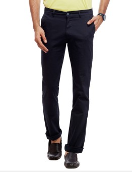 Live In Regular Fit, Slim Fit Men's Blue Trousers