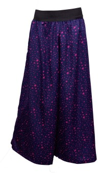 Shopingfever Navy Blue With Pink Star Regular Fit Women's Trousers