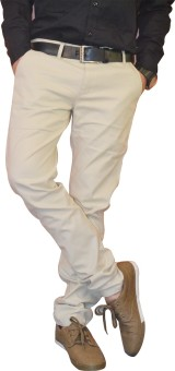 Nation Polo Club Slim Fit Men's Beige Trousers