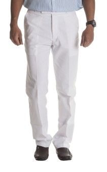 Windover Uniform White Regular Fit Men's Trousers