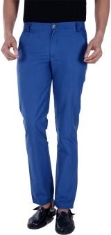 S9 MEN Slim Fit Men's Blue Trousers