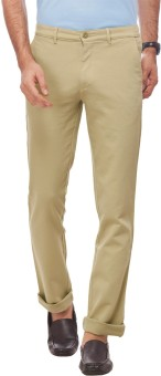 Live In Regular Fit, Slim Fit Men's Beige Trousers