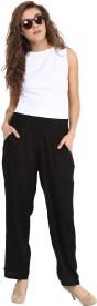 OJB Seller Regular Fit Women's White Trousers
