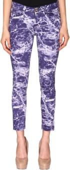 Azores Tie & Die Blue Slim Fit Women's Trousers