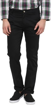 Yepme Regular Fit Men's Black Trousers
