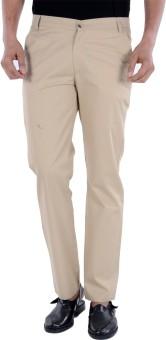 S9 MEN Slim Fit Men's Beige Trousers