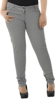 LastInch Zig-Zag Printed Regular Fit Women's Trousers