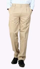 Dad Regular Fit Men's Beige Trousers