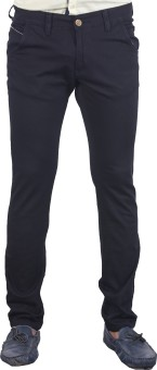 Bombay Casual Jeans Slim Fit Men's Black Trousers