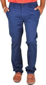 Indigen Slim Fit Men's Blue Trousers