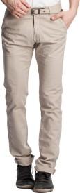 Beevee Regular Fit Men's Beige Trousers