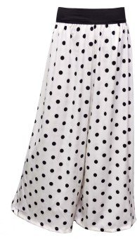 Shopingfever Polka Dot ( Black On White) Regular Fit Women's Trousers