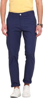 Ennoble Slim Fit Men's Blue Trousers - TROEGZMWRSZ5V3FH