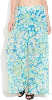 Buy In America Regular Fit Women's Light Blue Trousers
