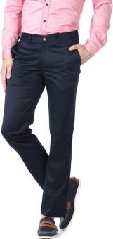 BASICS Slim Fit Men's Dark Blue Trousers