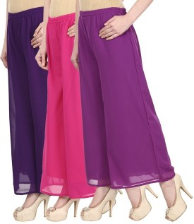 Darwin Regular Fit Women's Purple, Pink, Purple Trousers