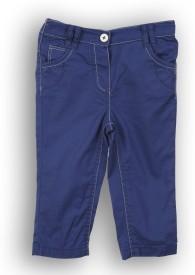 Lilliput Regular Fit Baby Girl's Blue Trousers