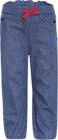 FS Mini Klub Regular Fit Baby Girl's Blue Trousers