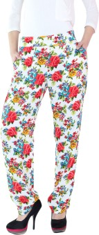 Fashion205 Printed Cotton Rayon Regular Fit Women's Trousers