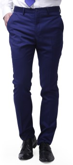 Brahaan Blue Tag Slim Fit Men's Blue Trousers