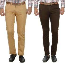 D-ROCK Regular Fit Men's Multicolor Trousers