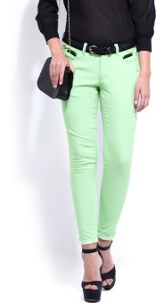 D Muse By Dressberry Cut & Sew Corduroy Skinny Fit Women's Trousers