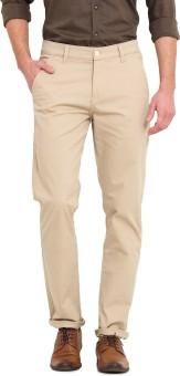 Ennoble Slim Fit Men's Beige Trousers