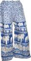 Indiatrendzs Regular Fit Women's White, Purple Trousers