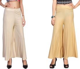 Comix Regular Fit Women's Cream, Gold Trousers