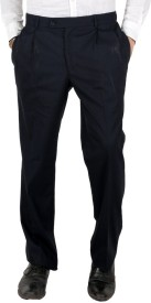Follow Up Slim Fit Men's Dark Blue Trousers