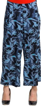 Oxolloxo Women's Floral Palazzos Regular Fit Women's Trousers