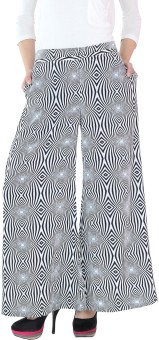 Fashion205 Black & White Regular Fit Women's Trousers - TROE3URMG8ARZYZQ