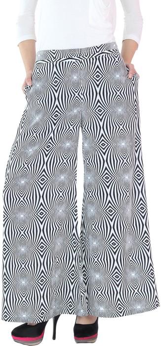 Fashion205 Black & White Regular Fit Women's Trousers - TROE3URMG8ARZYZQ
