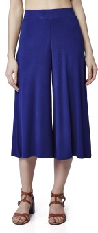 AND Regular Fit Women's Blue Trousers