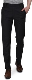 Black Catz Slim Fit Men's Blue Trousers