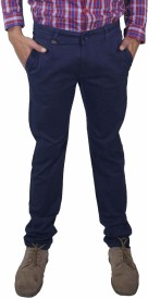 Rollister Slim Fit Men's Dark Blue Trousers
