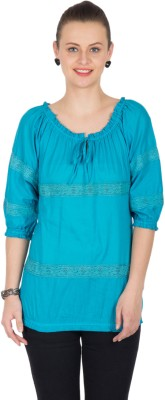Unique Unique Fashions Solid Women's Tunic (Turquoise)